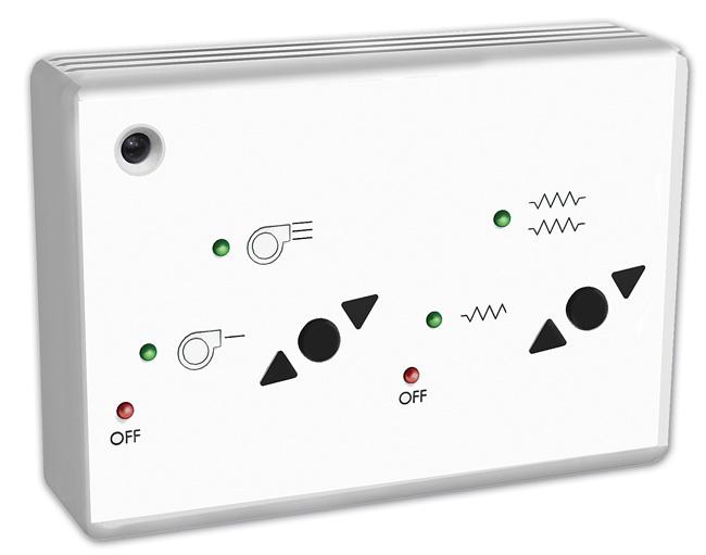 Rys. 8. Regulator CE-2AO-IR – przeznaczony do regulacji kurtyn Optima z nagrzewnicą elektryczną