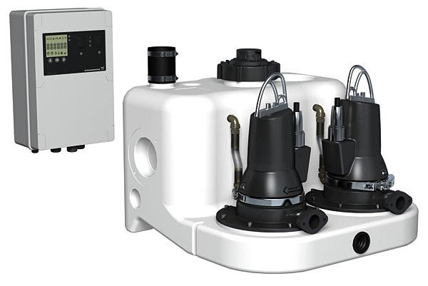 Rys. 3. Nowe agregaty podnoszące Multilift firmy Grundfos są łatwe w instalacji, posiadają udoskonalony czujnik poziomu, inteligentny pulpit sterujący i zbiornik o specjalnej konstrukcji