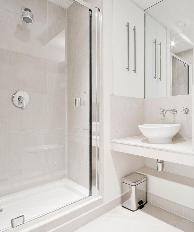 Baterie podtynkowe pozwalają w łatwy sposób ergonomicznie zaprojektować przestrzeń łazienki