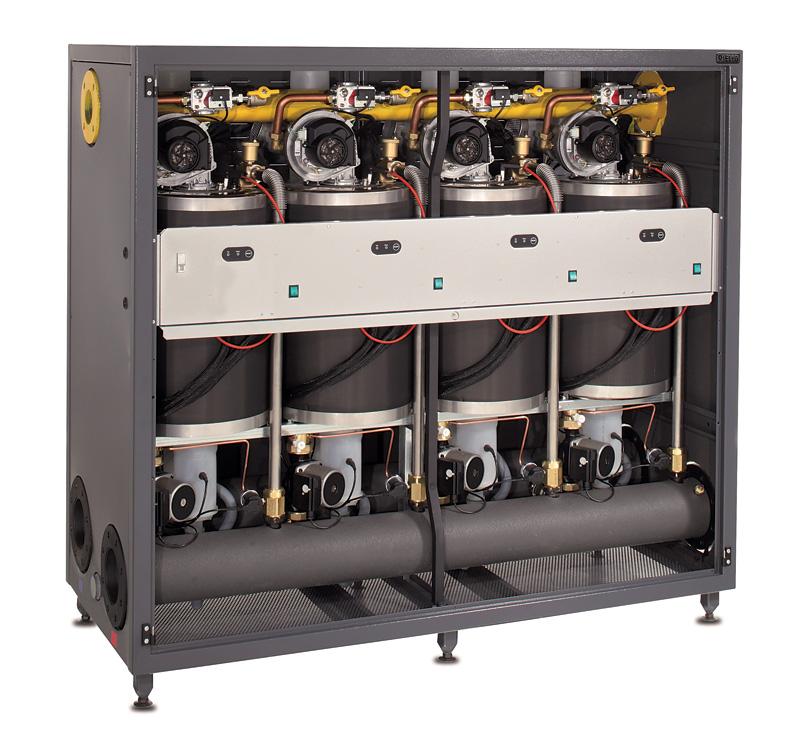 Rys. 1. Gazowy kocioł kondensacyjny Power Plus Box w wersji PP Box 1004 P INT składającej się z czterech modułów