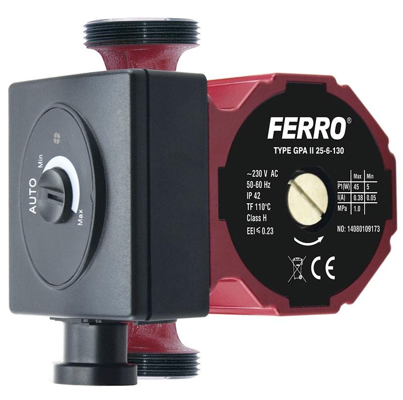 Rys. 4. Elektroniczna pompa obiegowa GPA II 25-60 130 do instalacji grzewczej i solarnej